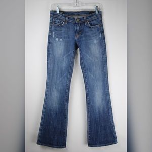Citizen of Humanity Low Waist Flare Blue Jeans